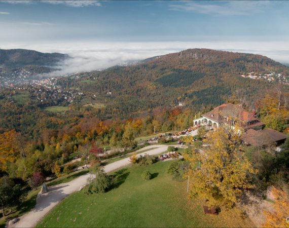 Баден-Баден город вид с горы осенью на город