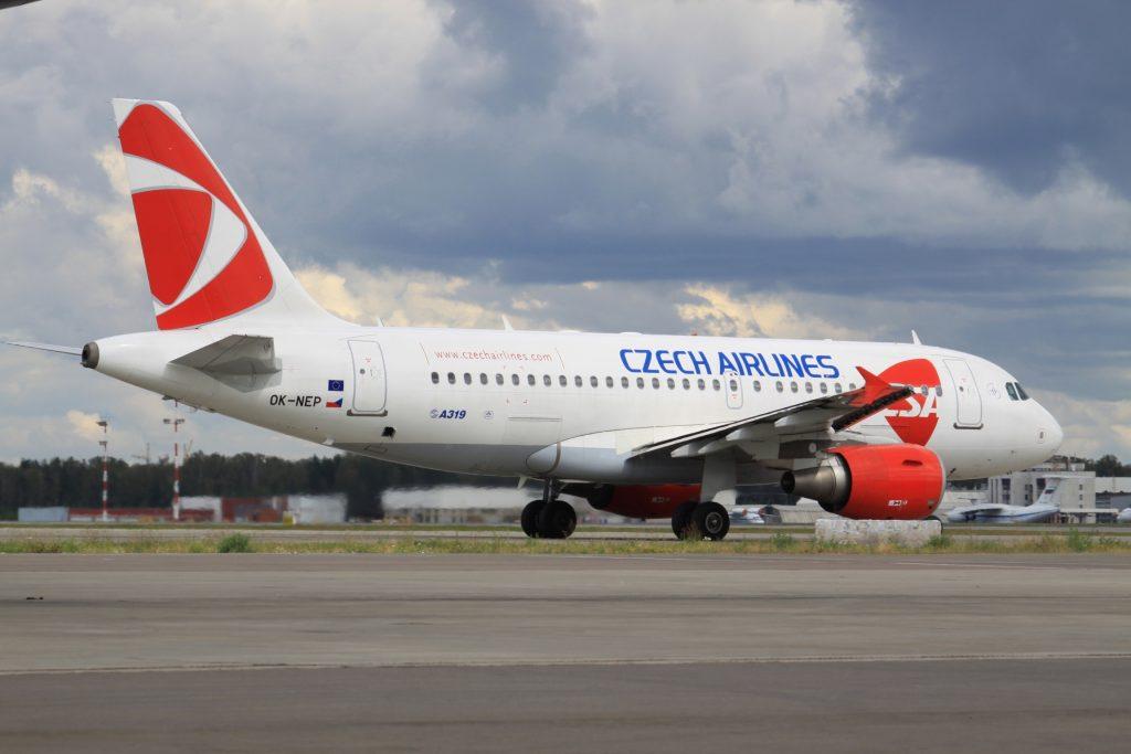 Czech Airlines Airbus A319 Чешские авиалинии Аэробус