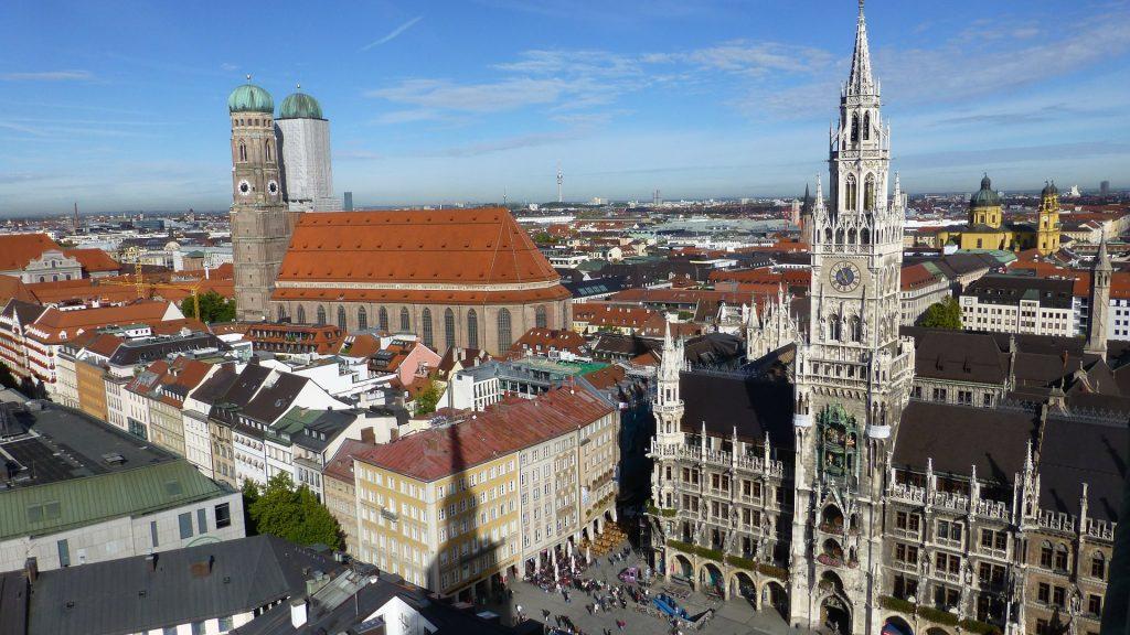 Бавария Государственный Капитал Мюнхен Город Зал
