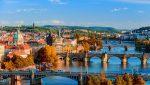 Мосты Прага Чехия Воды Город Городской Пейзаж