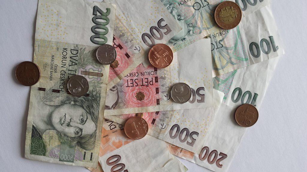 Деньги Валюта Чешская Крона