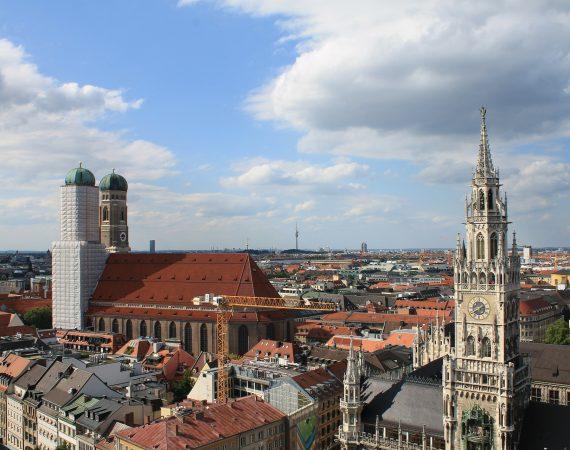 Мюнхен Церкви Фрауэнкирхе Бавария Город Город Зал