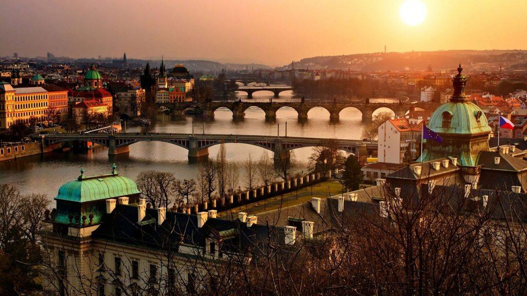 Прага панорама города