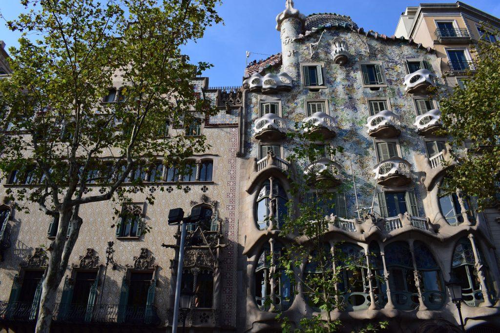 Barсelona Spain Испания Дом Бальо́ Архитектура