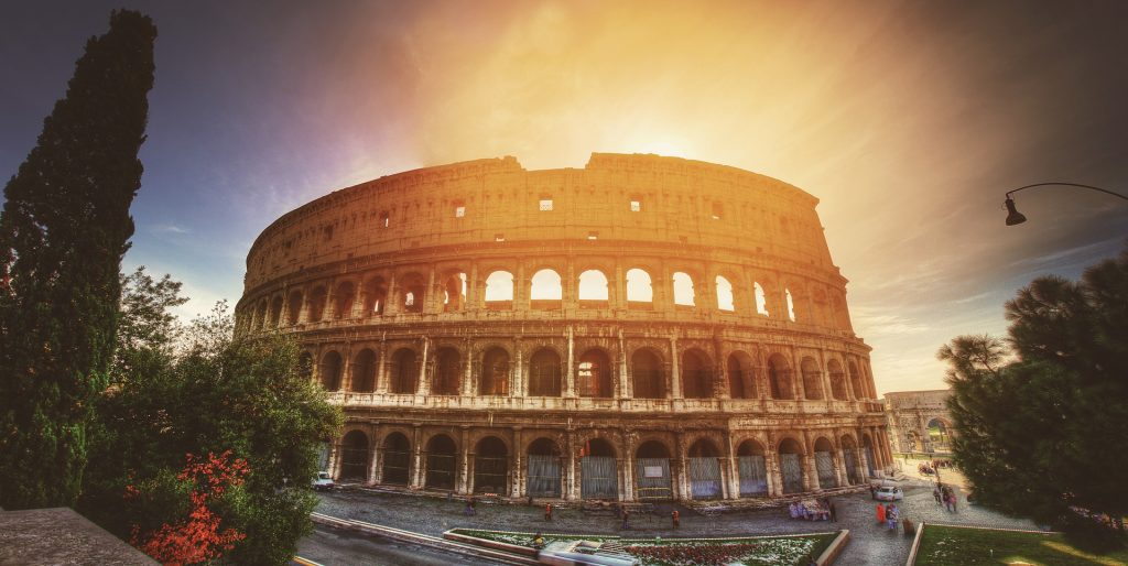 Колизей Европе Италия Рим Путешествия Архитектуры
