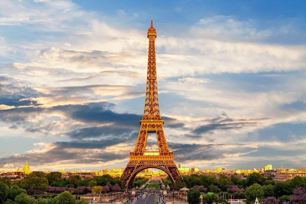 Эйфелева Башня Париж Франция Путешествия Башня