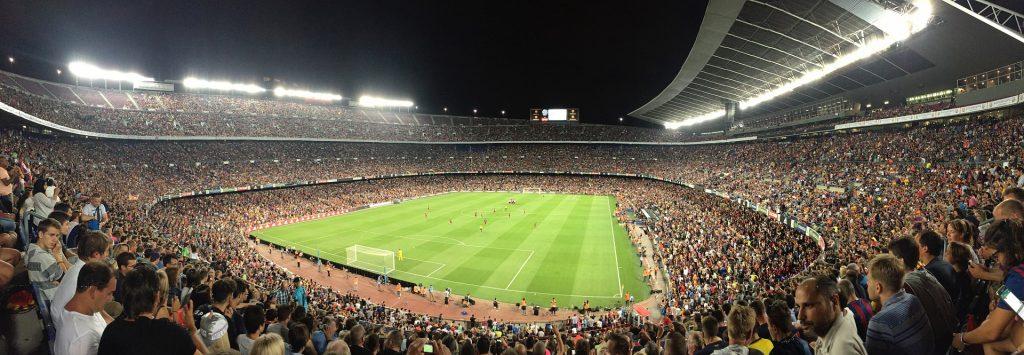 Футбол Стадион Барселона Общественное Трава