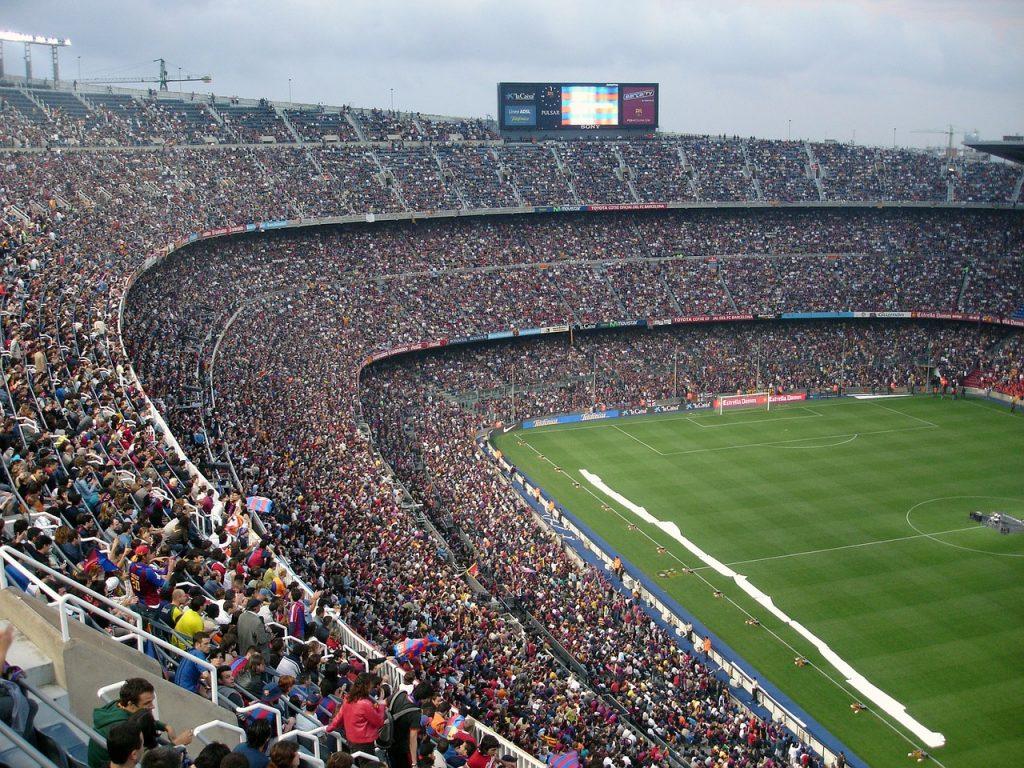 Футбольный Стадион Стадион Футбол Камп Ноу