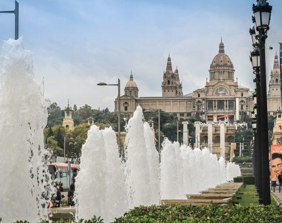 Фонтан Палау Насьональ Барселона Испания