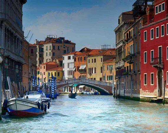 Главные достопримечательности городов Италии Венеция Воды Гондола