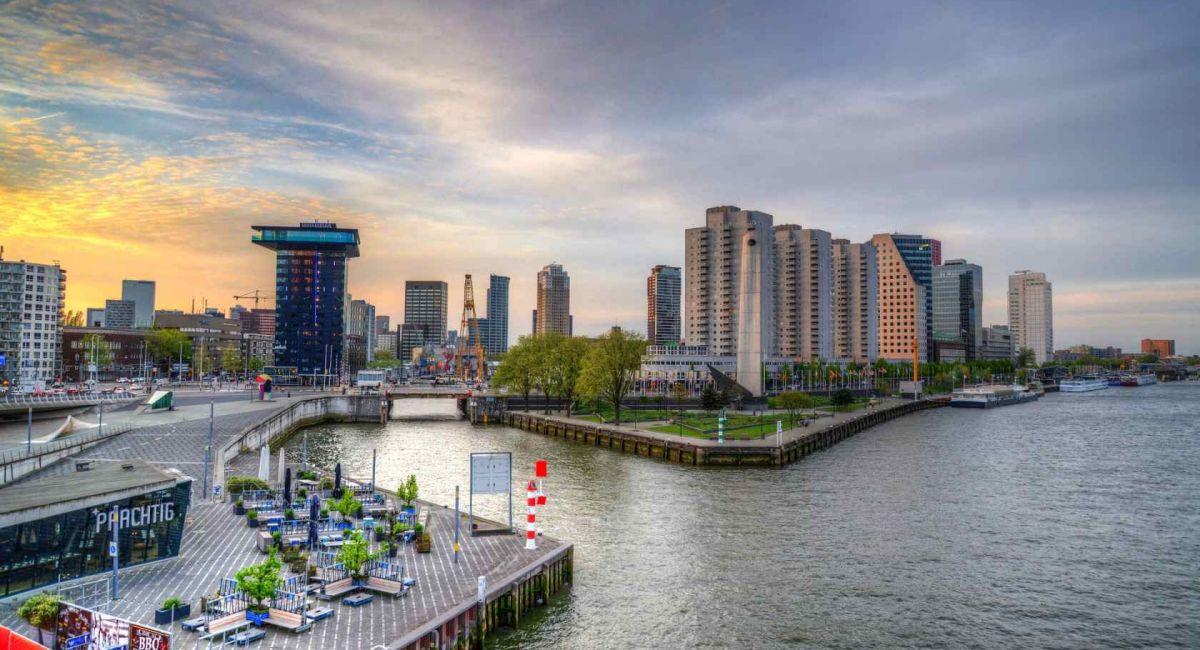Роттердам Нидерланды Город Архитектуры Панорамное