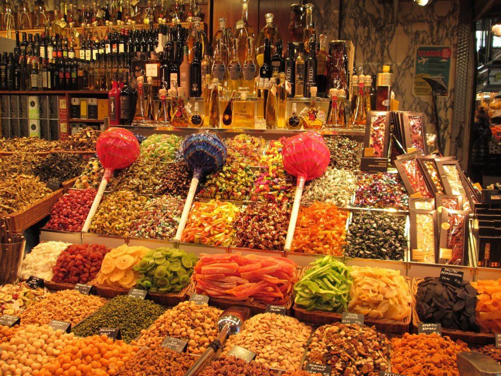 Ла Бокерия Барселона Рынок Ла-Рамбла Леденец