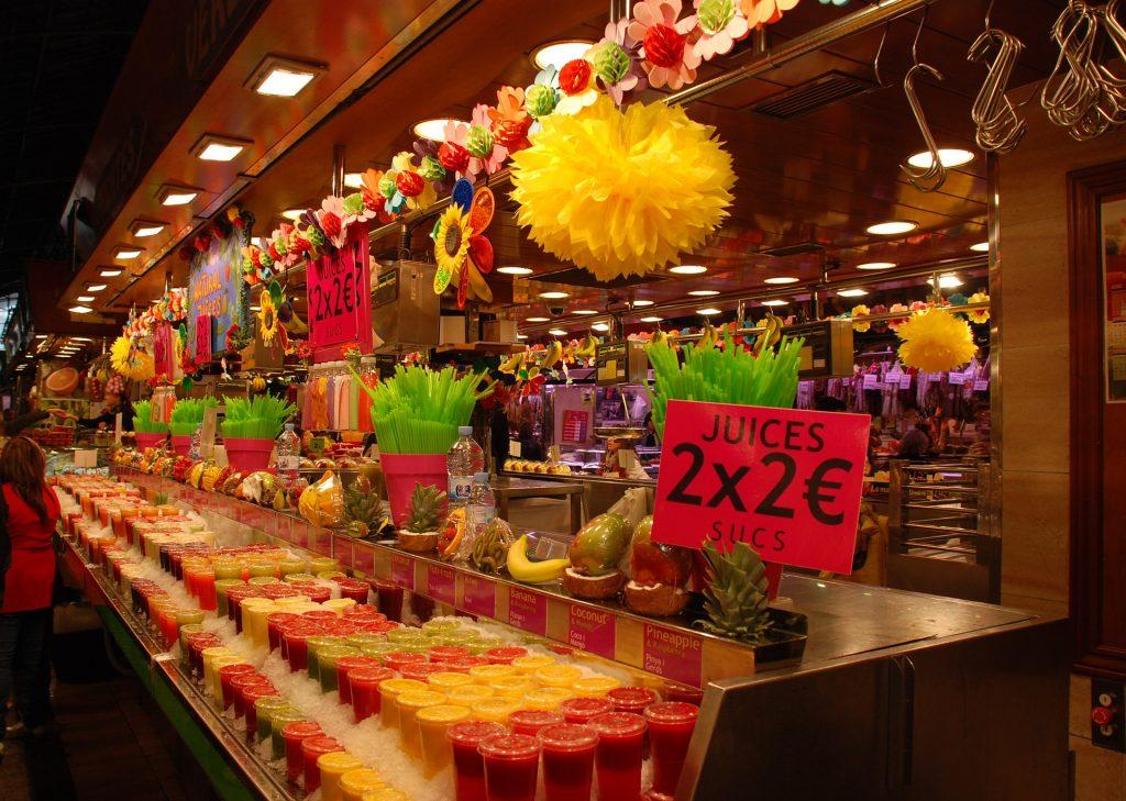 Продовольственный Рынок Бокерия Барселона Испания