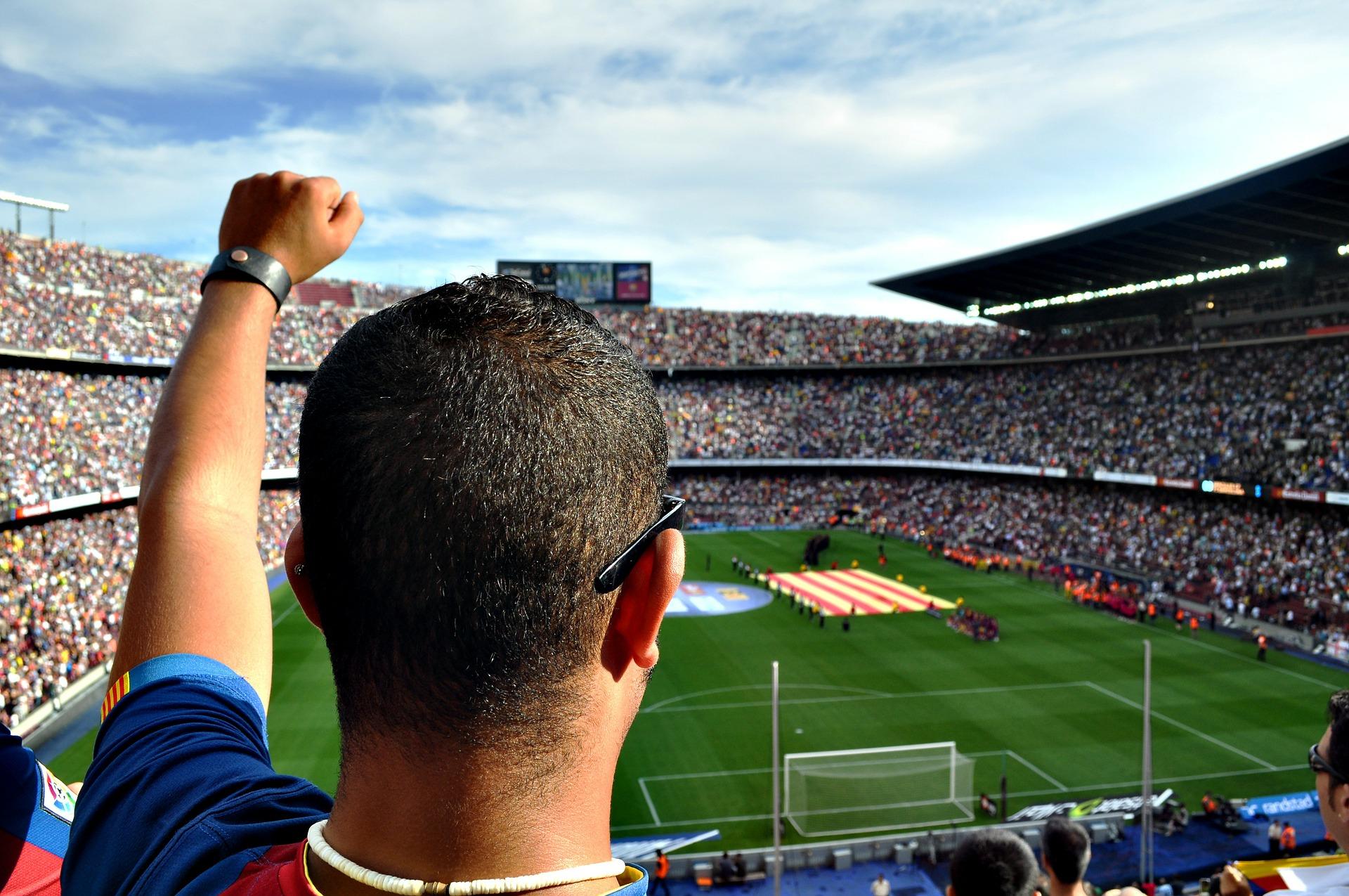 Барселона ФК фанат Камп Ноу Футбол Стадион Люди