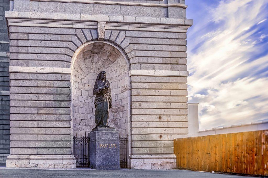Паулюс Статуя Мадрид Королевский Дворец Архитектуры