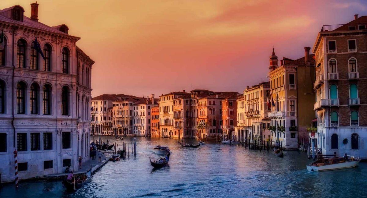 Венеция Италия Лодки Город Городских Зданий