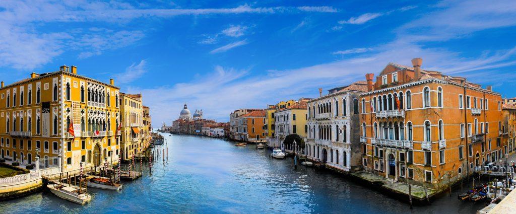 Венеция Архитектуры Канал Воды Город Здание Лодки