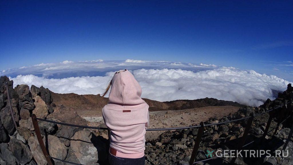 Вулкан Тейде смотровая площадка девушка личное фото на Канарских островах что посмотреть достопримечательности