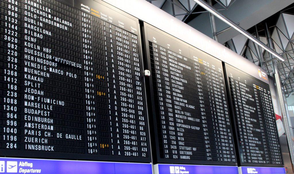 Панель Индикации Времени Вылета Аэропорта