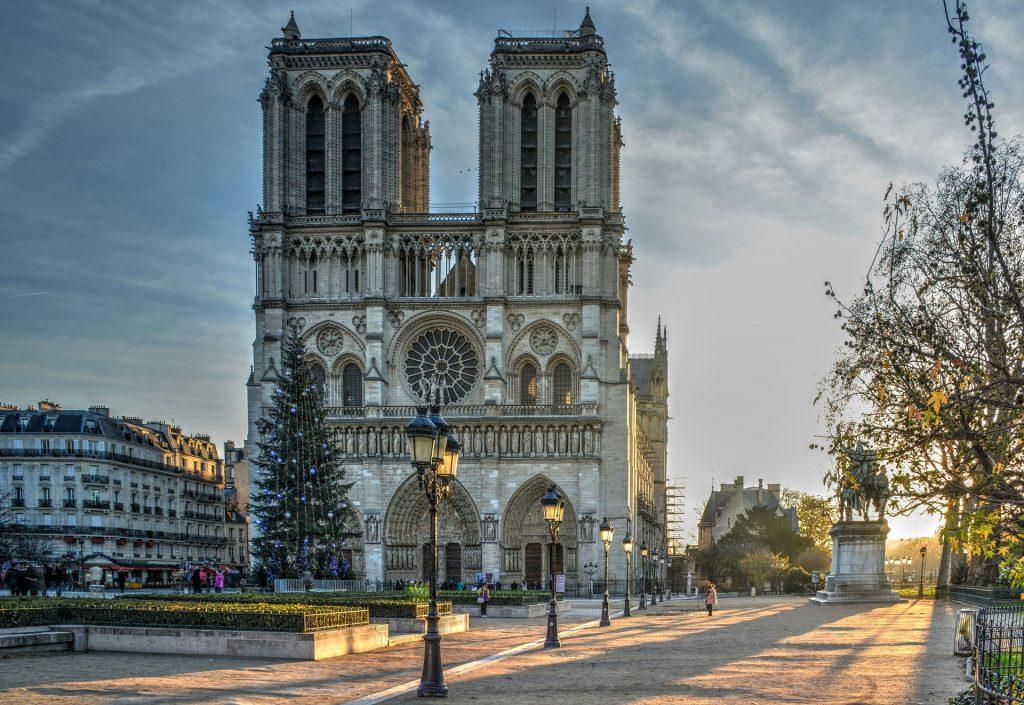 Собор Нотр-Дам Париж Утренний Свет