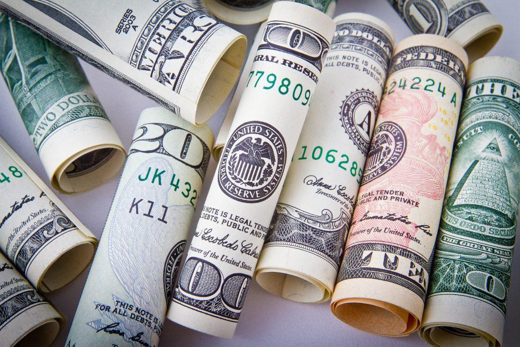 Доллар Деньги Наличные Деньги Бизнес Валюта Финансы