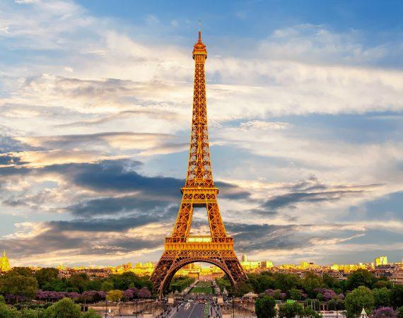 Эйфелева Башня Париж Франция Путешествие Башня