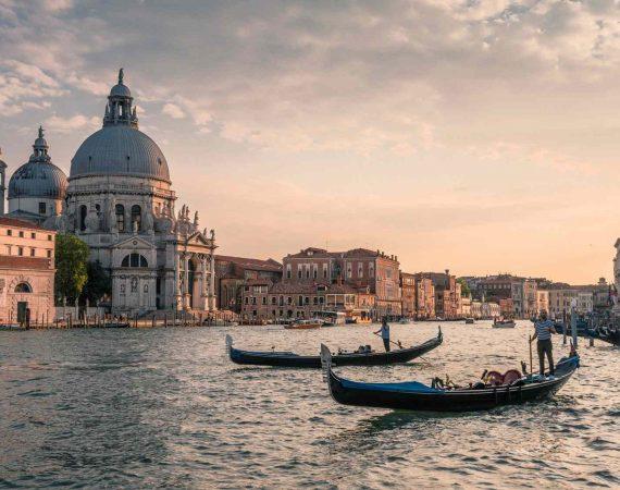 Италия маршрут путешествия венеция фото гандолы закат