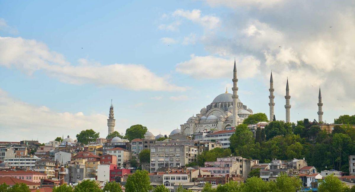 Мечеть Сулеймание Ислам Купол Минарет Стамбул