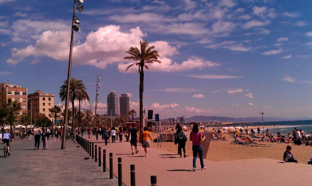 Барселона Барселонета Пляж