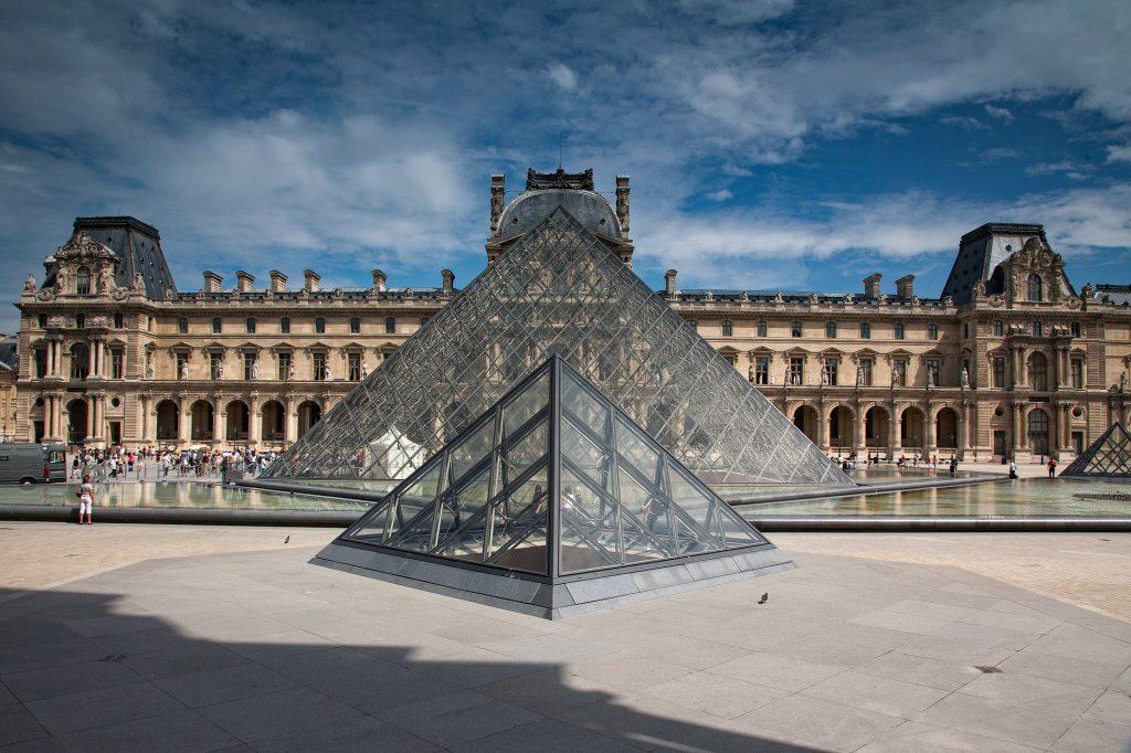 Лувр Парижский Музей Архитектуры Пирамида Лувра