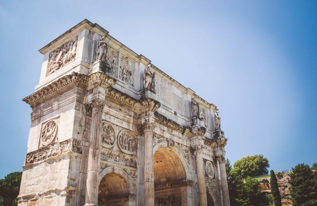 Римская Арка Константина Колизей Италия Столица