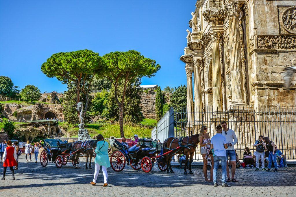 Рим Арка Колизей Форум Италия Итальянская Достопримечательность советы туристам в риме