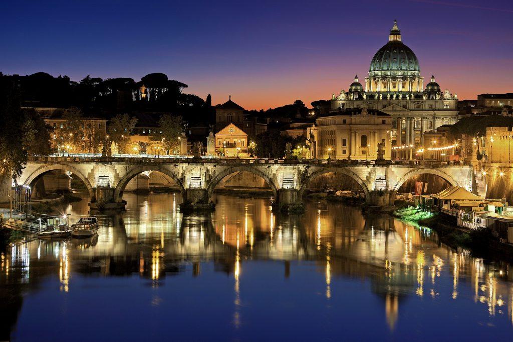 Рим Ватикан Италия Тибр Собор Святого Петра
