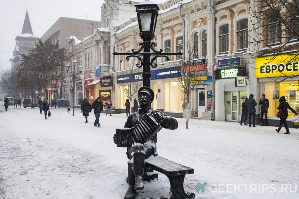 саратов памятник саратовской гармошке   фото зимой достопримечательность