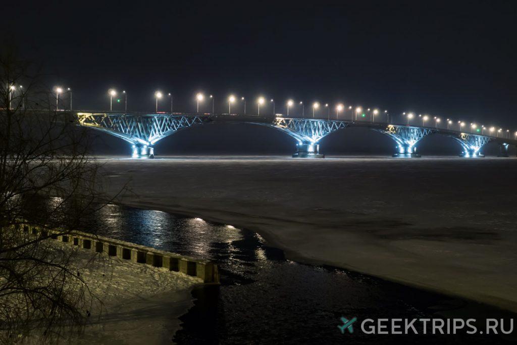 саратов мост через волгу фото зимой достопримечательность