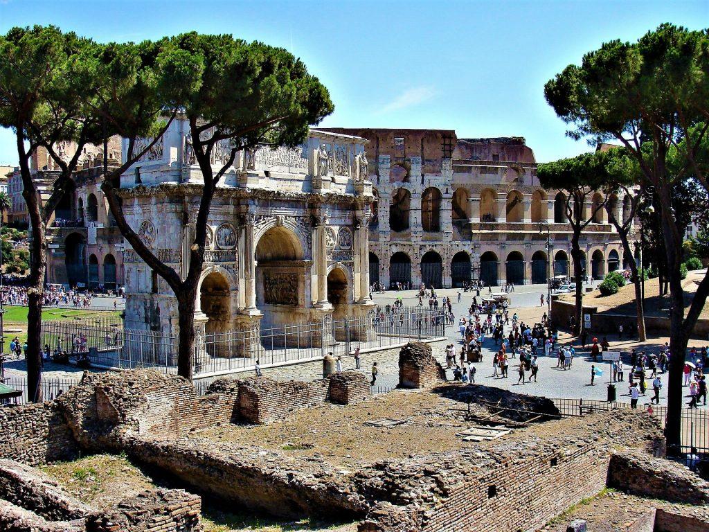 Триумфальная Арка Константина Великого В Риме