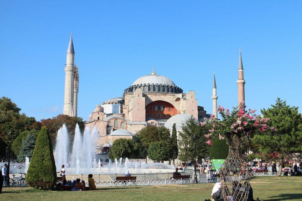 Турция Собор Святой Софии В Стамбуле Музей Святой Софии Ориент Айя София