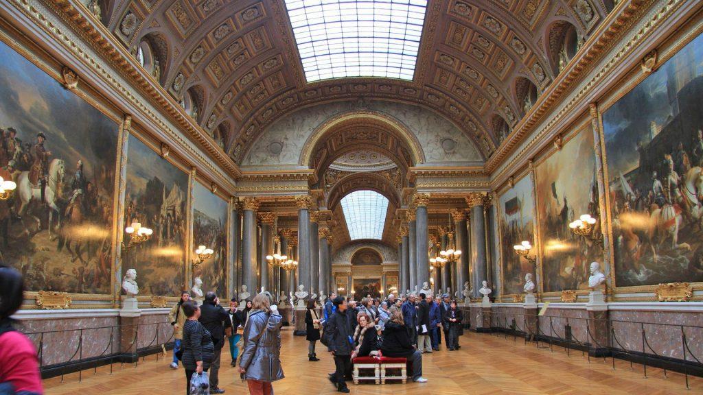 Версаль Франция картины внутри дворца