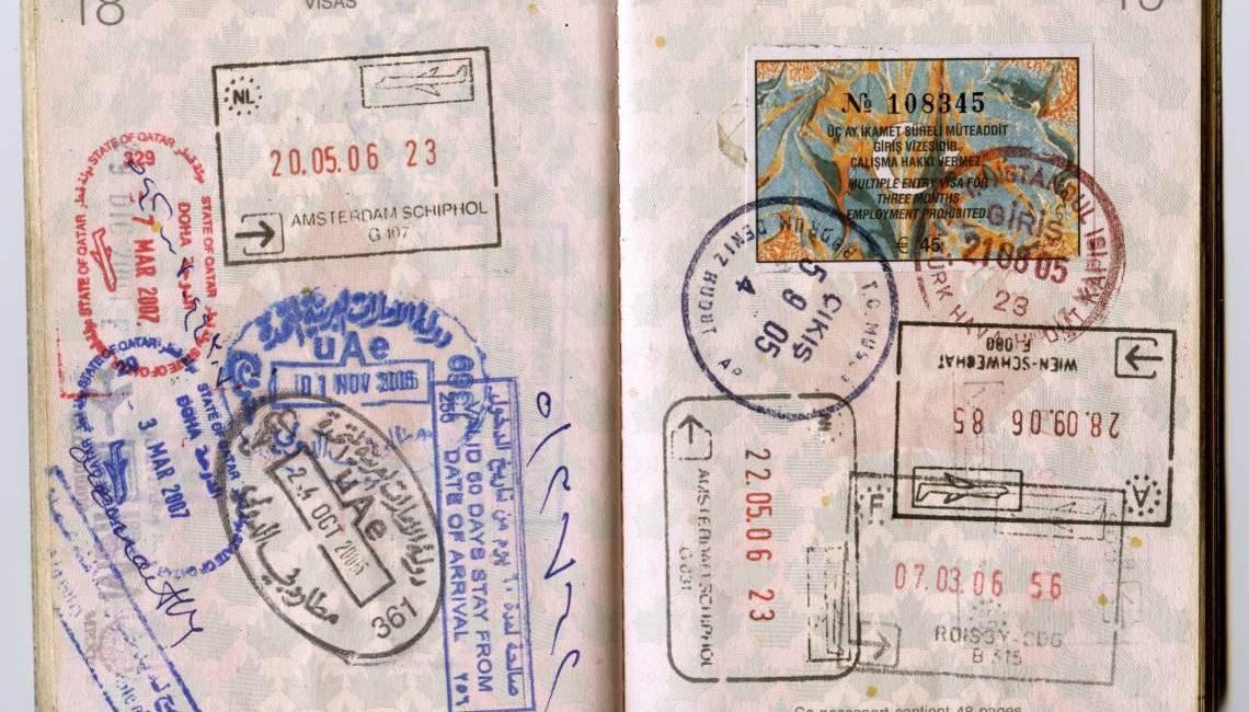 Заполнение анкеты на шенген - Много виз штампов в паспорте заграничном