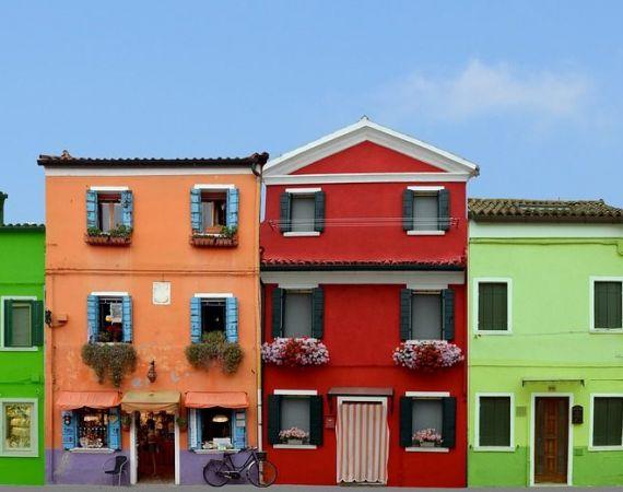 отдых в италии летом Бурано Венеция Красочный Дом Остров Бурано