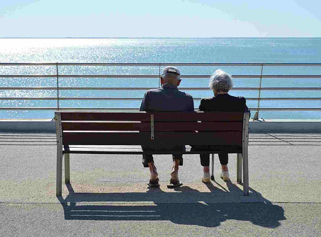 Человек Женщина Пожилая Пара Два Вместе Единения