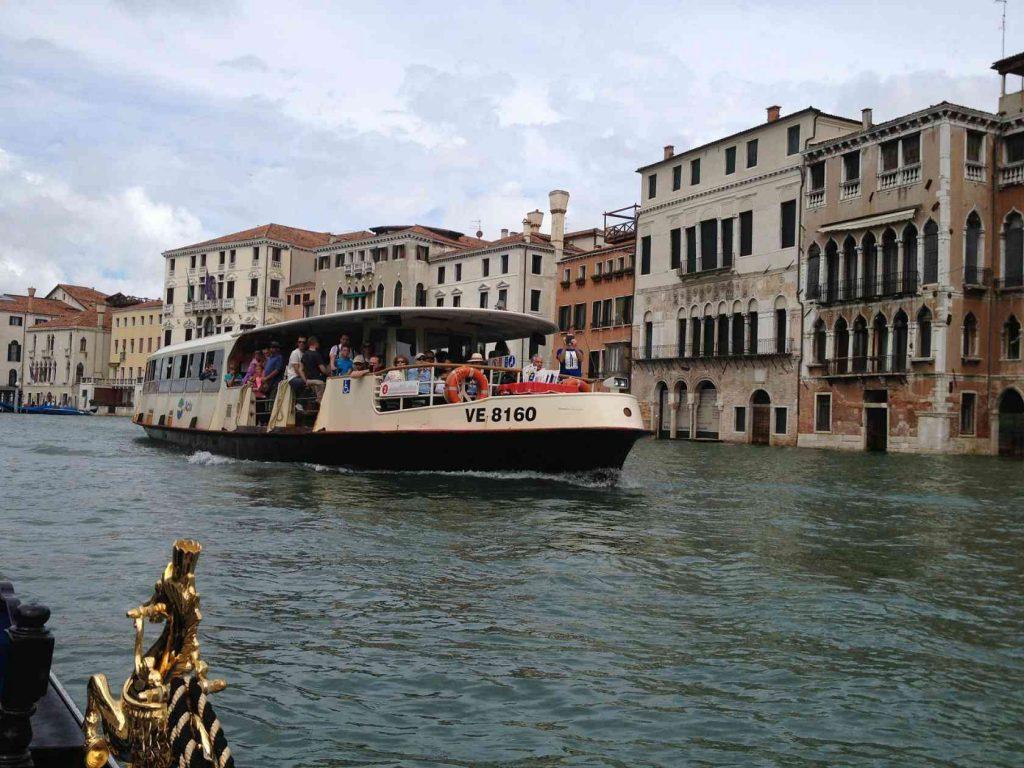 Вапоретто Лодка Венеция Канал Воды Canale Гранде