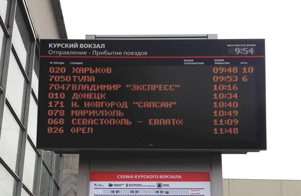 расписание электричек москва курский вокзал