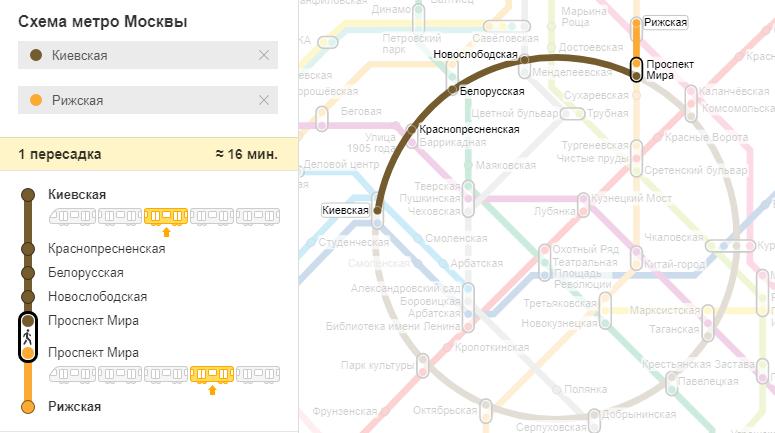 добраться с киевского вокзала до рижского