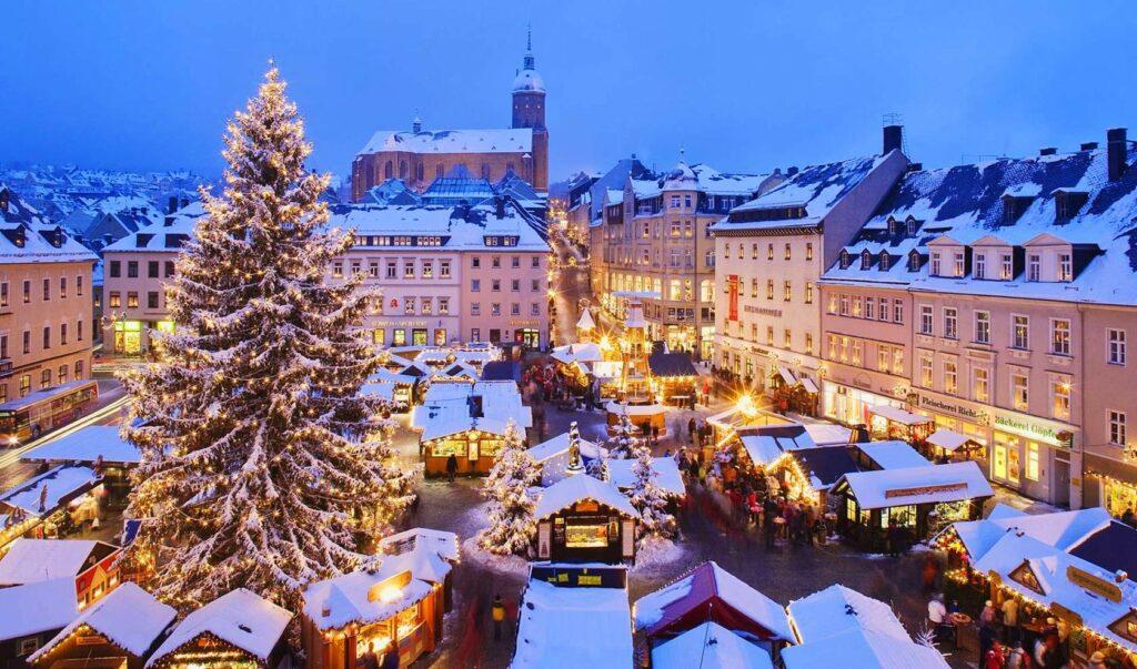 красивые города на рождество