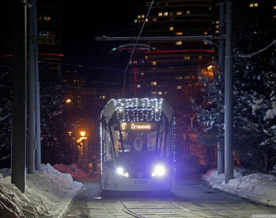 ночной общественный транспорт в москве