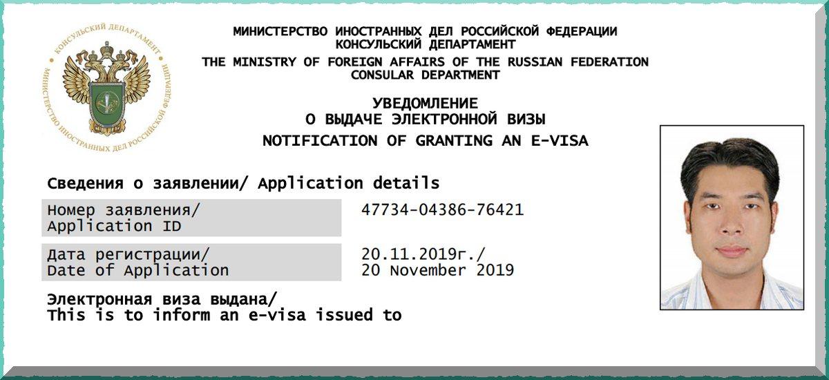 электронная виза в россию 2021